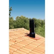 sortie de toit inox inox sti50 70s230dom noir mat 9019 pente 50 70 conduit 230 mm. Black Bedroom Furniture Sets. Home Design Ideas