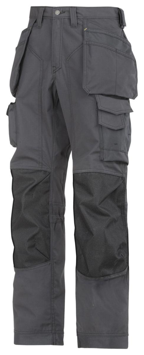 Pantalon anti-déchirure à genouillère Kevlar gris taille 54