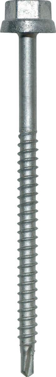 Vis autoperceuse Zacrovis BOIS TH12 2C 6,5x100mm tête naturelle boîte de 100 réf. 551224