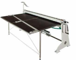 Table arrière 2m avec butée à glissière orientable intégrée<br>réf ETBX2040C pour plieuse PCX2040A