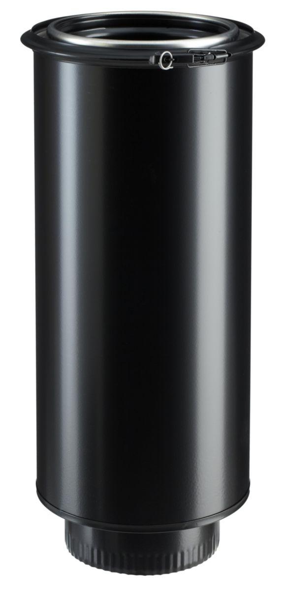 Elément droit 230IG D180 noir mat (RAL 9019) Réf EDP230IEM 32230015