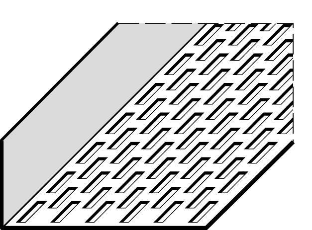 Profil perforé - aluminium - L. 2,5 m - 10x3 cm