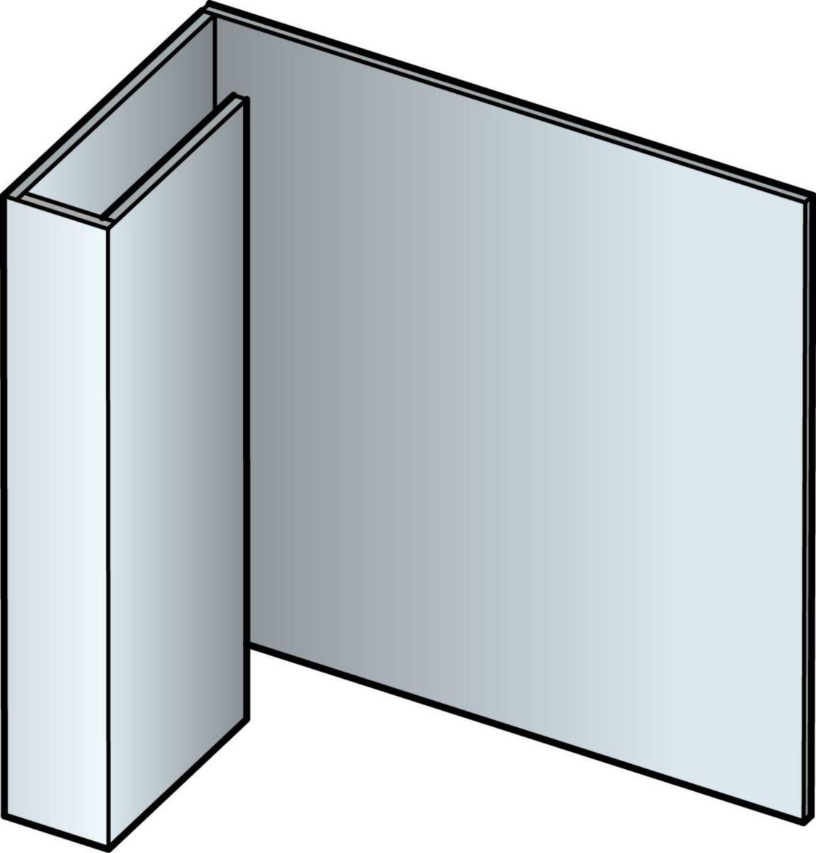 Profil de finition aluminium laqué pour bardage Cédral - vanille - L. 3 m