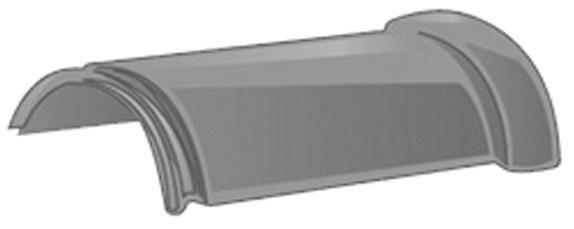 Faîtière ronde ventilée à emboîtement 31 XLM - terre cuite rouge flammé - 22x40 cm