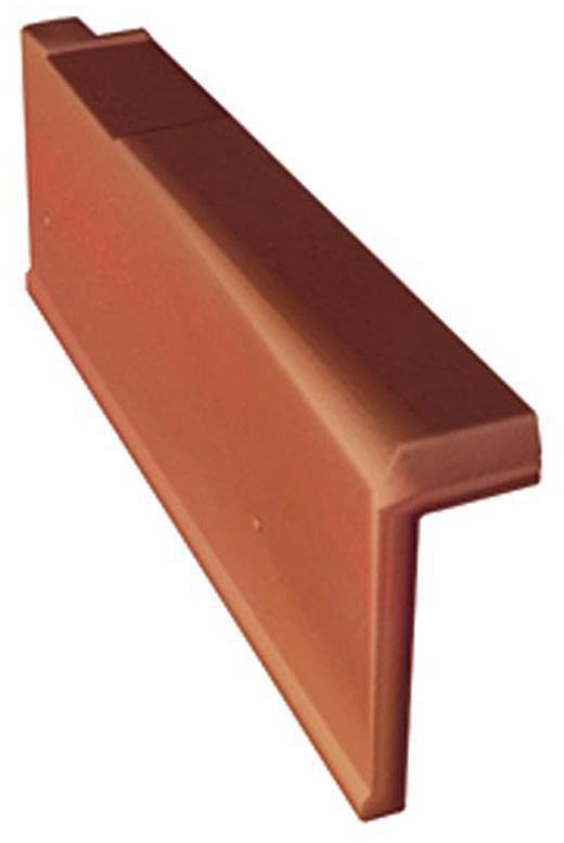 Tuile de rive standard gauche AR063 - terre cuite - rouge - 437x182x85 mm