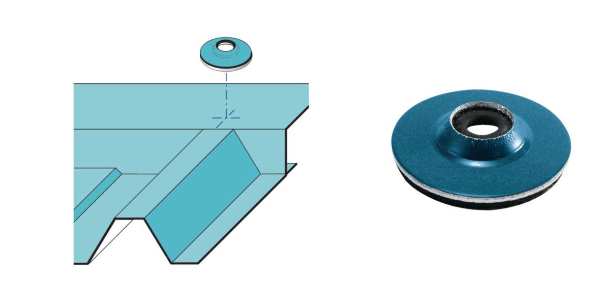 Coupelle de faitage monobloc Cop 25 Vulco diamètre 325mm RAL 5008 sachet de 100