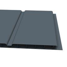 lambris de sous face pvc alv olaire 3 frises ardoise ral 7015 l 5 00 m 10x300 mm. Black Bedroom Furniture Sets. Home Design Ideas