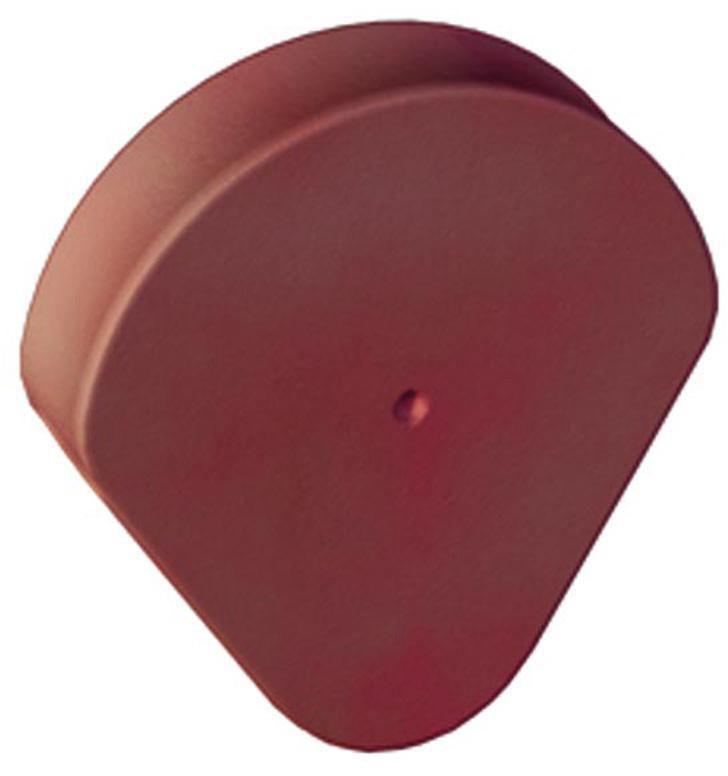 Fronton de rive à rabat AR172 - terre cuite - rouge - 342x312 mm - ép. 72 mm